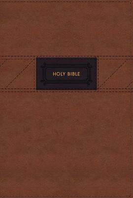 NIV, The Grace and Truth Study Bible, Large Print, Leathersoft, Brown, Red Letter, Thumb Indexed, Comfort Print