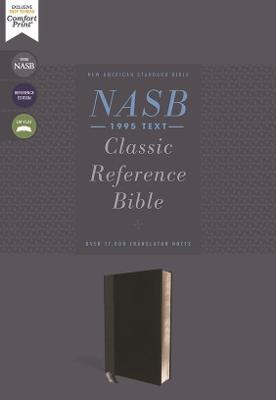 NASB, Classic Reference Bible, Leathersoft, Black, Red Letter, 1995 Text, Thumb Indexed, Comfort Print