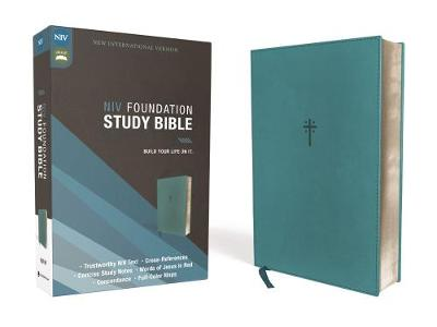 NIV, Foundation Study Bible, Leathersoft, Teal, Red Letter