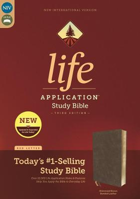 NIV, Life Application Study Bible, Third Edition, Bonded Leather, Brown, Red Letter, Thumb Indexed