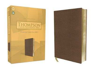 KJV, Thompson Chain-Reference Bible, Leathersoft, Brown, Red Letter