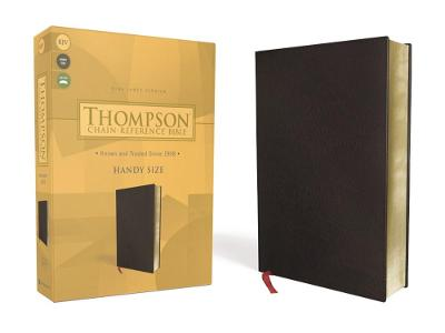 KJV, Thompson Chain-Reference Bible, Handy Size, Bonded Leather, Black, Red Letter
