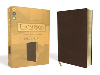 KJV, Thompson Chain-Reference Bible, Large Print, Leathersoft, Brown, Red Letter
