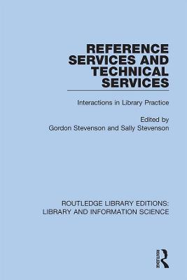Reference Services and Technical Services