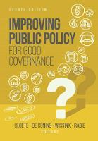 Improving public policy for good governance