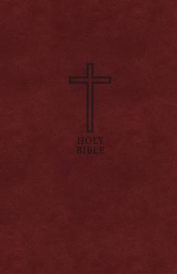 KJV, Value Thinline Bible, Large Print, Leathersoft, Burgundy, Red Letter Edition, Comfort Print