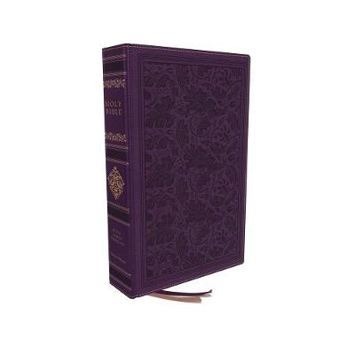 KJV, Personal Size Reference Bible, Sovereign Collection, Leathersoft, Purple, Red Letter, Thumb Indexed, Comfort Print