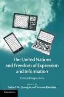 The United Nations and Freedom of Expression and Information