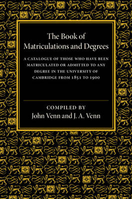 The Book of Matriculations and Degrees