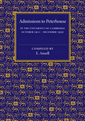 Admissions to Peterhouse