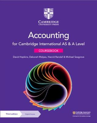 Cambridge International AS & A Level Accounting Coursebook with Digital Access (2 Years)
