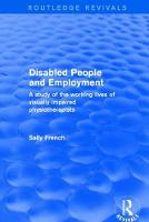 Disabled People and Employment