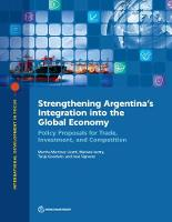 Strengthening Argentina's integration into the global economy