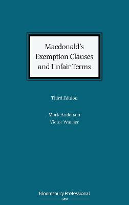 Macdonald's Exemption Clauses and Unfair Terms