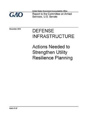 Defense Infrastructure Actions Needed to Strengthen Utility Resilience Planning