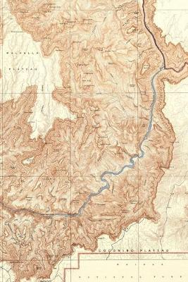 """Grand Canyon Vintage Map Field Journal Notebook, 50 pages/25 sheets, 4x6"""""""