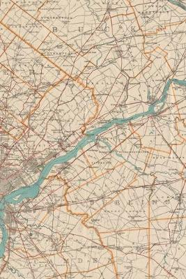 Philadelphia Vintage Map Field Journal Notebook, 50 pages/25 sheets, 4x6