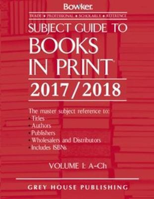 Subject Guide to Books In Print, 2017/18