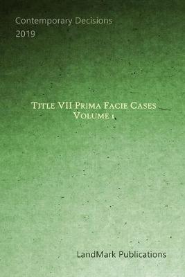 Title VII Prima Facie Cases