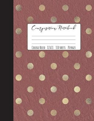 Gold Dot Composition Notebook College Ruled