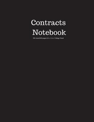 Contracts Notebook 200 Sheet/400 Pages 8.5 X 11 In.-College Ruled
