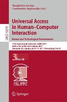 Universal Access in Human-Computer Interaction. Human and Technological Environments