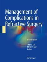 Management of Complications in Refractive Surgery