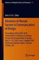 Advances in Human Factors in Communication of Design